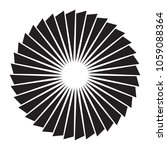 black and white sun vector icon.... | Shutterstock . vector #1059088364