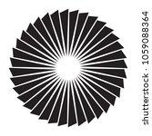 black and white sun vector icon.... | Shutterstock . vector #1059088364