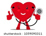 a healthy heart shows the like... | Shutterstock .eps vector #1059090311