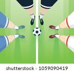 soccer   football field with... | Shutterstock .eps vector #1059090419
