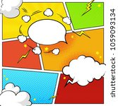comic book page template with... | Shutterstock .eps vector #1059093134