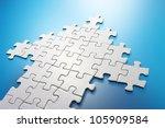 Arrow shaped jigsaw puzzle....