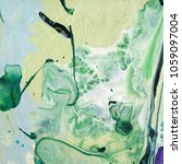 acrylic marbling painting. hand ... | Shutterstock . vector #1059097004