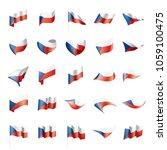 czechia flag  vector... | Shutterstock .eps vector #1059100475
