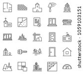 thin line icon set  ... | Shutterstock .eps vector #1059103151