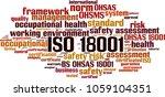 iso 18001  word cloud concept.... | Shutterstock .eps vector #1059104351
