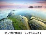 late evening seascape in uutela ... | Shutterstock . vector #105911351