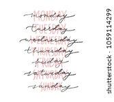 vector handwritten week days... | Shutterstock .eps vector #1059114299