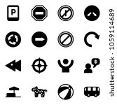 solid vector icon set   parking ... | Shutterstock .eps vector #1059114689
