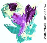 colorful abstract hand painted... | Shutterstock . vector #1059115769