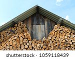 Pile Of Chopped Oak Firewood A...