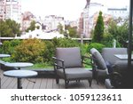 garden on the roof. modern... | Shutterstock . vector #1059123611