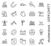 thin line icon set   flask... | Shutterstock .eps vector #1059124577