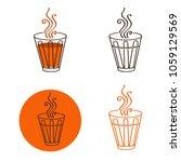 illustration of tea glass logo... | Shutterstock .eps vector #1059129569