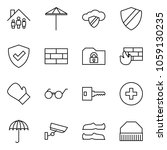 flat vector icon set   family... | Shutterstock .eps vector #1059130235