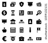 flat vector icon set   bank... | Shutterstock .eps vector #1059132131