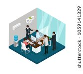 isometric business innovations... | Shutterstock .eps vector #1059141329