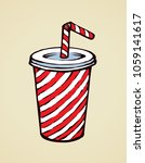 pop red plastic tare of cool...   Shutterstock .eps vector #1059141617