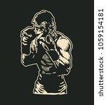boxers logo design. vector... | Shutterstock .eps vector #1059154181