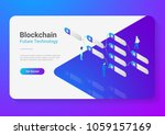blockchain technology isometric ... | Shutterstock .eps vector #1059157169