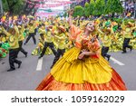 Small photo of CEBU , PHILIPPINES - JAN 21 : Participants in the Sinulog festival in Cebu Philippines on January 21 2018. The Sinulog is the centre of the Santo Nino Catholic celebrations in the Philippines.