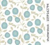 bold round flower seamless... | Shutterstock .eps vector #1059162794