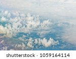 aerial view on white fluffy...   Shutterstock . vector #1059164114