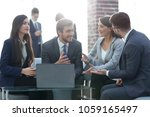 beautiful business people are... | Shutterstock . vector #1059165497