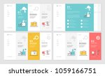 set of website template designs.... | Shutterstock .eps vector #1059166751