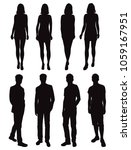 set vector silhouettes men and... | Shutterstock .eps vector #1059167951