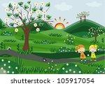 rural landscape | Shutterstock . vector #105917054