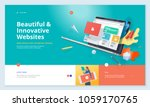 website template design. modern ... | Shutterstock .eps vector #1059170765