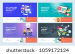 set of website template designs.... | Shutterstock .eps vector #1059172124