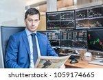 business portrait of confident... | Shutterstock . vector #1059174665