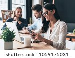 young coworkers. young modern... | Shutterstock . vector #1059175031
