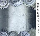 3d metallic gears background | Shutterstock . vector #1059182939