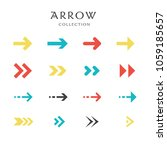 collection of modern arrows in... | Shutterstock .eps vector #1059185657