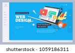 website design. vector... | Shutterstock .eps vector #1059186311