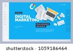 website design. vector... | Shutterstock .eps vector #1059186464