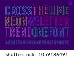 line condensed alphabet and... | Shutterstock .eps vector #1059186491