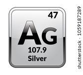 silver symbol.chemical element...   Shutterstock .eps vector #1059187289
