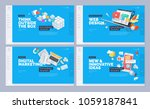 website designs collection.... | Shutterstock .eps vector #1059187841