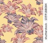 tropical flowers . vector... | Shutterstock .eps vector #1059188084