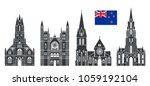 new zealand set. isolated new... | Shutterstock .eps vector #1059192104