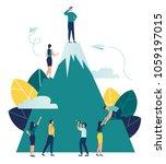 vector business illustration ... | Shutterstock .eps vector #1059197015