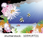 coral reef illustration | Shutterstock .eps vector #105919721