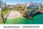 scenic sight in polignano a... | Shutterstock . vector #1059201929
