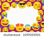 children photo frame with funny ... | Shutterstock .eps vector #1059203501