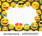 children photo frame with funny ... | Shutterstock .eps vector #1059203507
