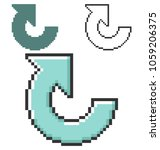 pixel icon of recycling arrow... | Shutterstock . vector #1059206375